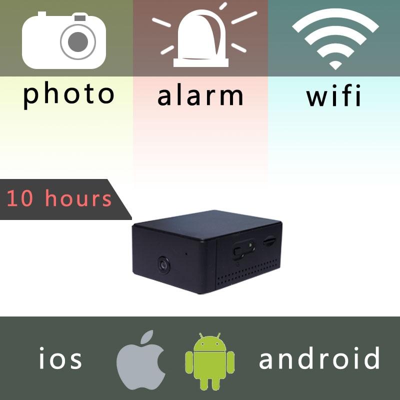 IP Камера мини-аккумулятор Портативный Камера P2P Беспроводной Wi-Fi видеокамера наблюдения для IOS iPhone Android телефон приложение дистанционного