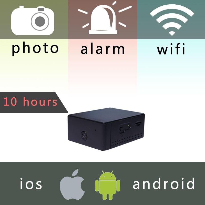 IP-kamera Mini batteri Bærbart kamera P2P Trådløs WiFi Video Recorder overvågning til IOS iPhone Android Telefon APP Remote