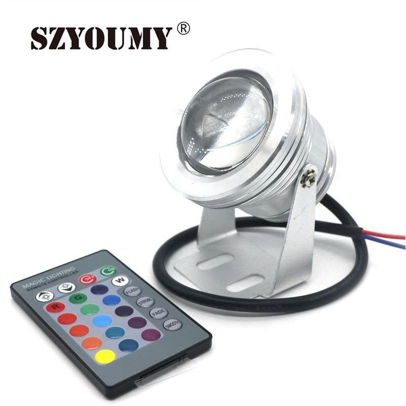 Led Lamps Adroit Szyoumy Led Underwater Light Rgb 10w 12v Led Underwater Light 16 Colors 1000lm Waterproof Ip68 Fountain Pool Lamp Lighting 100pc Packing Of Nominated Brand