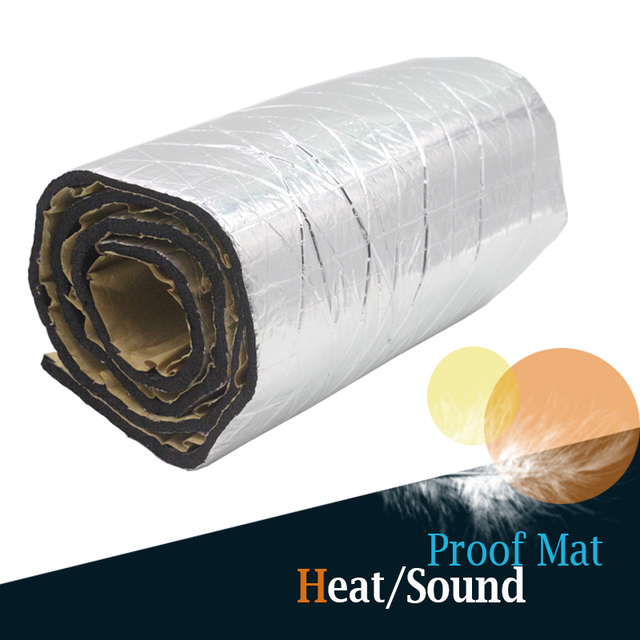 "1 Roll 8sqm 320"" x 40"" Car Turbo Firewall Door Trunk Ceiling Heat Shield Sound Noise Proof Insulation Mat Deadening Deadener"