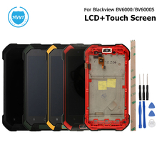 For Blackview BV6000 BV6000S Original LCD + Touch Screen With Frame Assembly Repair Parts 4.7 inch For Blackview BV6000 Phone