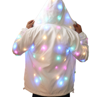 Colorful LED Luminous Costume Clothes Waterproof Dancing LED Growing Up Lighting Coat Halloween Party Luminous Toys