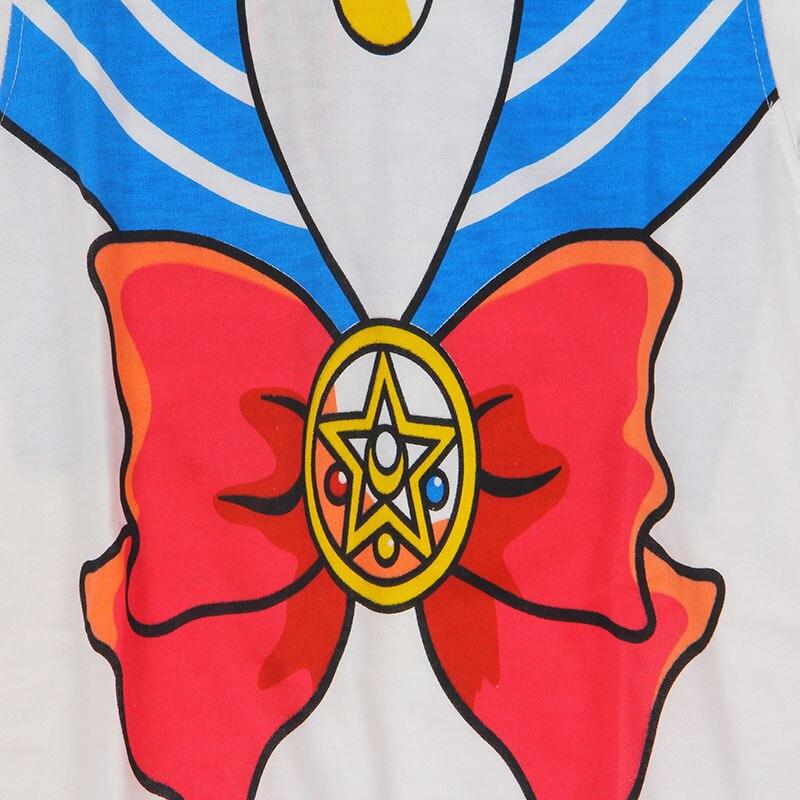 The New 2018 Sailor Moon Shirt Harajuku Kawaii Cute Fake