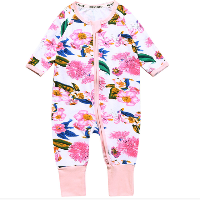 034f81e72 0 3Y Spring Newborn Baby Girls Clothing Long Sleeves Zipper Rompers ...
