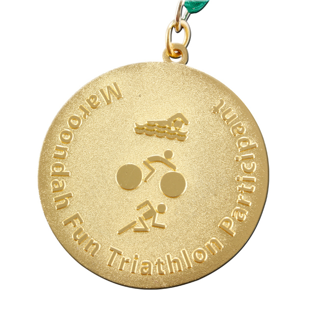 swimming medals Custom bike sports medals cheap custom made running metal medals hot sales plating gold game medals with ribbon