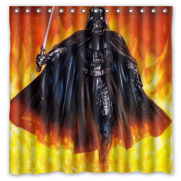 Hot New 180x180cm Star Wars Darth Vader Waterproof Fabric Bathroom Shower Curtain Bath Curtains With 12pcs Hooks Rings