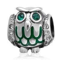 Fits Pandora Charms Bracelets Original 925 Sterling Silver Owl Charm Diy Jewelry Beads Free Shipping
