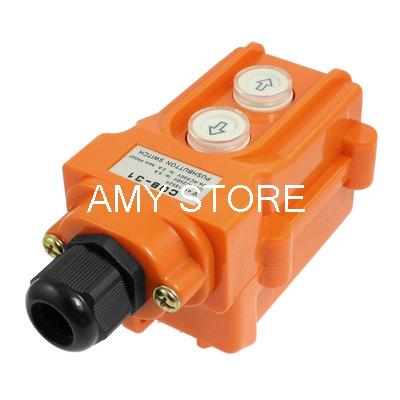 Orange Plastic Case Hoist Operate Push Button Switch COB-31Orange Plastic Case Hoist Operate Push Button Switch COB-31