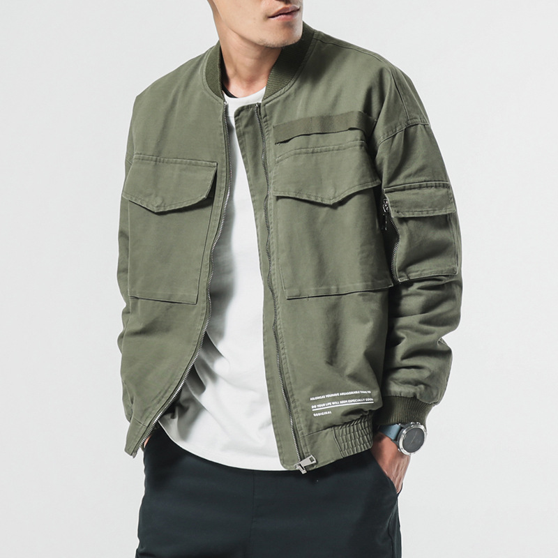 New Men's Jacket Army Green Casual Jackets Loose Large Size Long sleeved Hooded Sportswear Jackets Coat