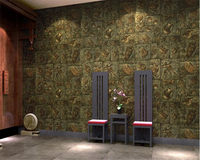 Beibehang Retro Personality Culture Stone Wallpaper Classical Chinese Wine Glass Carving Living Room Bar Restaurant 3d