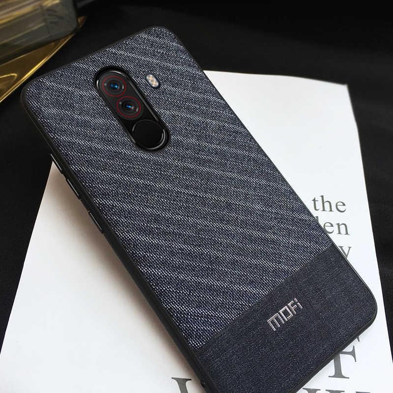 100% authentic 3703e 1ed5e Poco F1 Case For Xiaomi Pocophone F1 Case Back Cover Business Suit Cloth  Style Fabrics Mofi For Xiaomi Poco F1 Case Pocophonef1