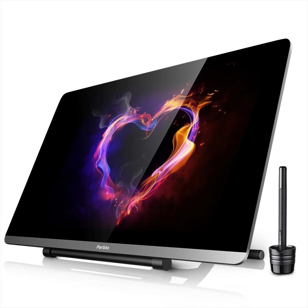 Nouvelle Arrivée Parblo Mast22 21.5 Tablette Graphique Moniteur Ultra-mince Écran 8192 Leverls Stylo Pression avec Réglable Stand
