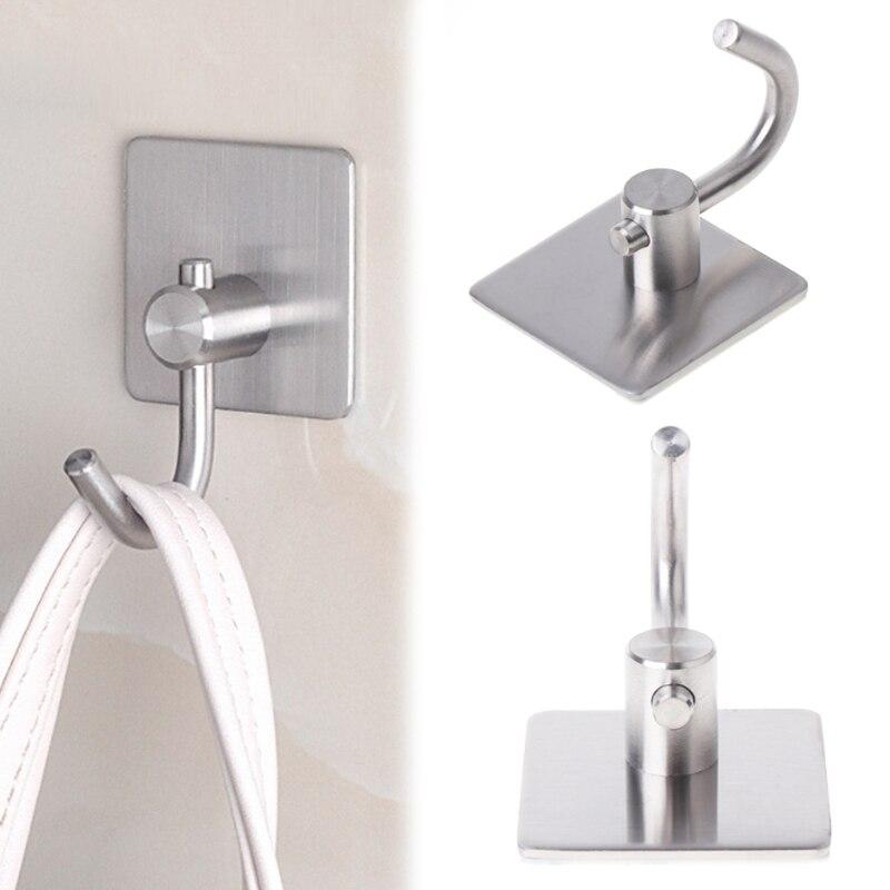 Adhesive Sticker Stainless Steel Rustproof Hook Wall Door Clothes Towel Hangers