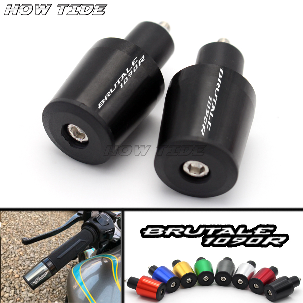 For MV Agusta BRUTALE 1090R 2014 Motorcycle Accessories 7/8'' 22MM Handlebar Grips High Quality Handle Bar Cap End Plugs