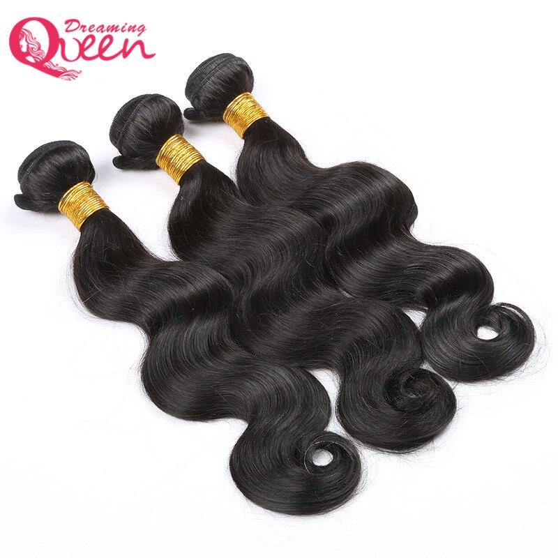 Бразильский Для тела волна человеческих Наращивание волос 100% Волосы Remy переплетения расслоения натуральный черный Цвет Мечтая Queen Hair проду...