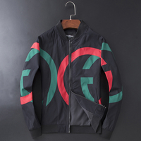New Men luxury Rib Sleeve Embroidered Striped G letters High couple Baseball Coats & Jackets Abstract digital coat Motor #L76