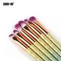 Novo! 6 Pcs Pincel de Maquiagem Set Fantasia Sombra Pálpebra Sobrancelha Delineador Lip Brushes Gradiente Colorido Fosco Lidar Com Kits de Cosméticos