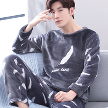 Male 100% cotton sleepwear spring and autumn long-sleeve set plus size summer lounge