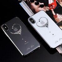 KINGXBAR Luxury Cover For IPhone X Phone Case IX Star Series Crystal Decor PC Hard Case