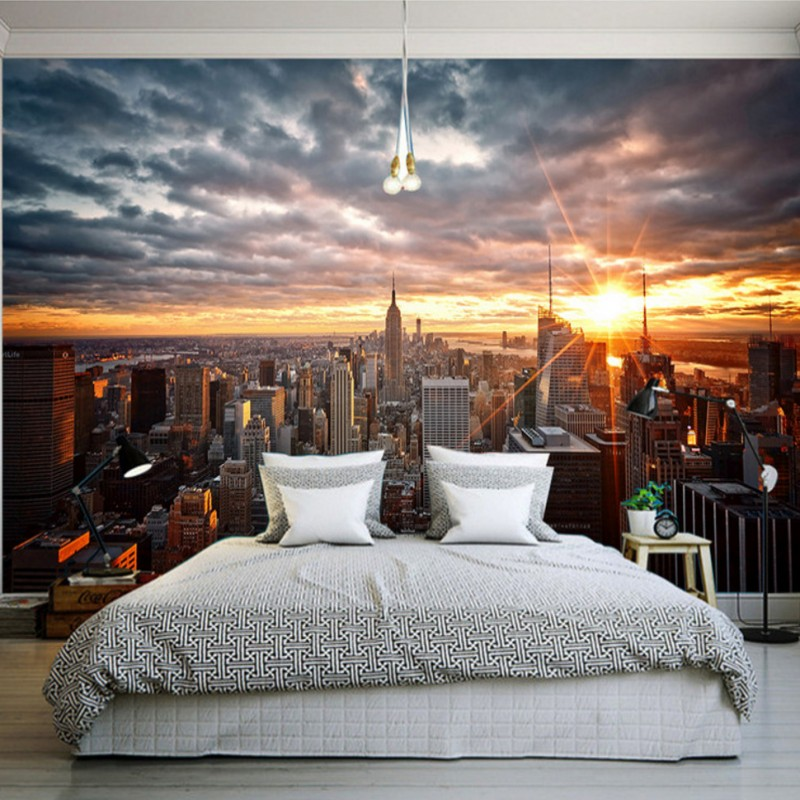 US $11.81 39% OFF|Photo wallpaper New York style modern urban landscape  Hotel bedrooms decoration background wallpaper mural-in Wallpapers from  Home ...