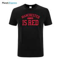 New United Kingdom Red Letter Print T Shirt Men 100 Cotton O Neck Manchester Tee Shirts