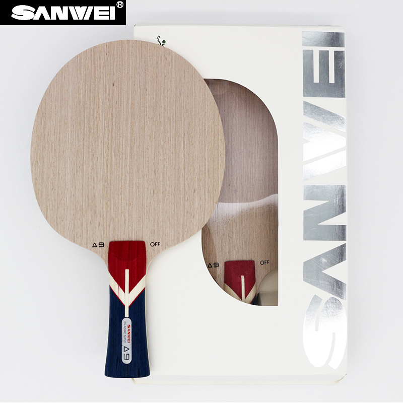 Sanwei 2017 New A9 (5 Ply, A Whole Piece of Central Ayous Wood as Core, Powerful Attack) Table Tennis Blade Ping Pong Racket Bat a cat a hat and a piece of string