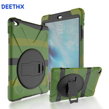 Case For iPad Air 2 model A1566 A1567 Duty Shockproof Hybrid Rubber Rugged Hard Protective Safe