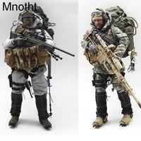 Mnotht 1/6 мужской Solider уплотнения ACU Снайпер костюм Комплект одежды W/пальто брюки шлем сумка для 12in фигурку игрушки l30 модель подарок