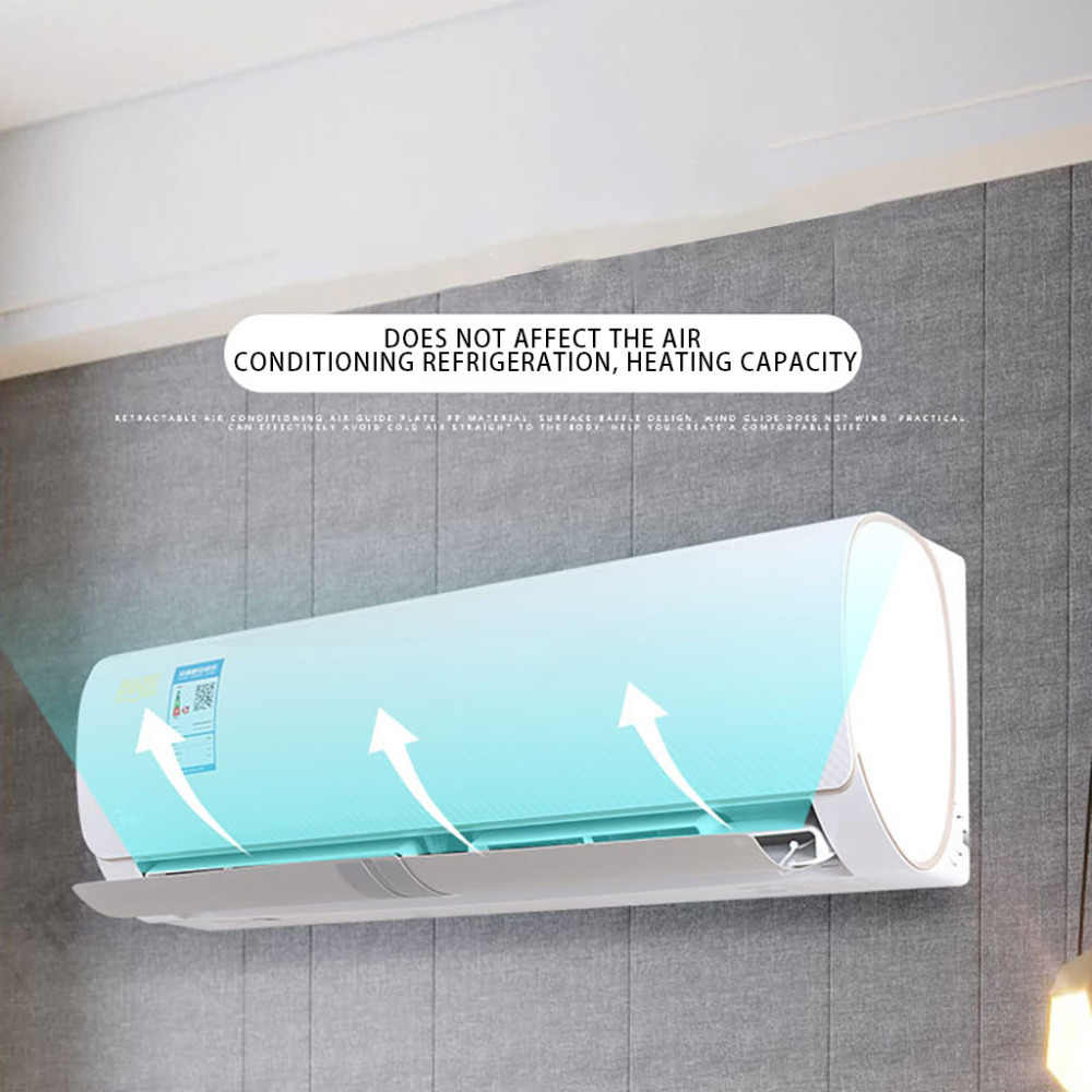 Air Conditioner Wind Shield Dust cover Cold Wind Gas Deflectors Anti Direct Blowing Baffle portable Household Merchandises L*D