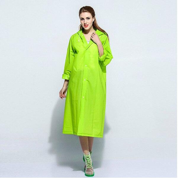 Мода Конфеты Цвет ЕВА Плащ с Капюшоном Длиной до колена пончо Пальто Взрослых Длинный Плащ Женщины Длинные Ветер Куртка Пыли пальто
