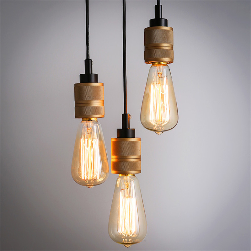 ФОТО Loft Edison Retro Lamp E27 Lamp Base with 2M Length Wire without Lamp