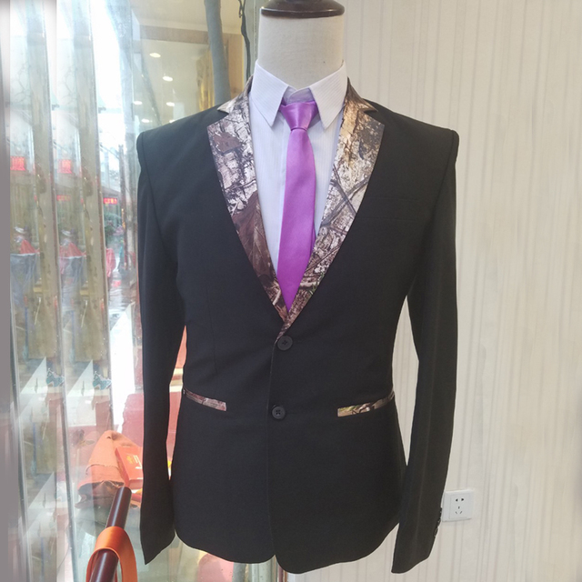 Man Camouflage Tuxedos suits Camo Mens Wedding Groom Wear Prom suits ...