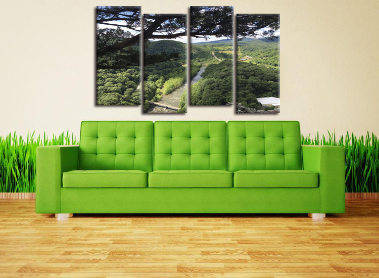 5 Piece Canvas Art HD Printed printed oil paintings landscape Print Room Decor Poster Picture Painting