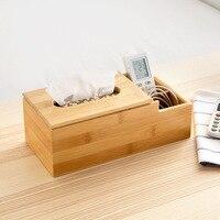 Multifunction Desktop Remote Control Tissue Box Storage Box Wooden coffee Table phone Stationery Finishing Box