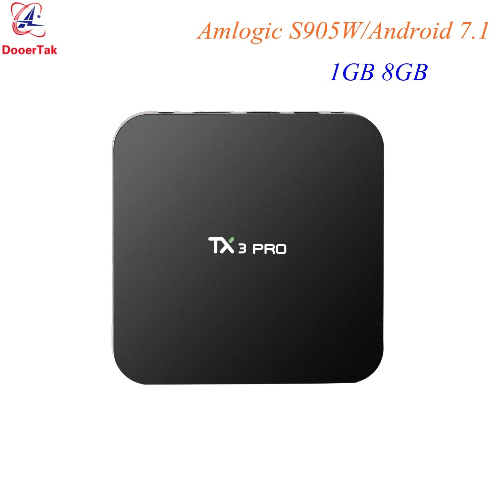 10 pièces Amlogic S905W TX3 Pro TV BOX Android 7.1 4K Quad Core 1G DDR3 8G ROM 2.4G WIFI H.265 VP9 UHD HDMI 2.0 lecteur multimédia intelligent-in Décodeurs TV from Electronique    1