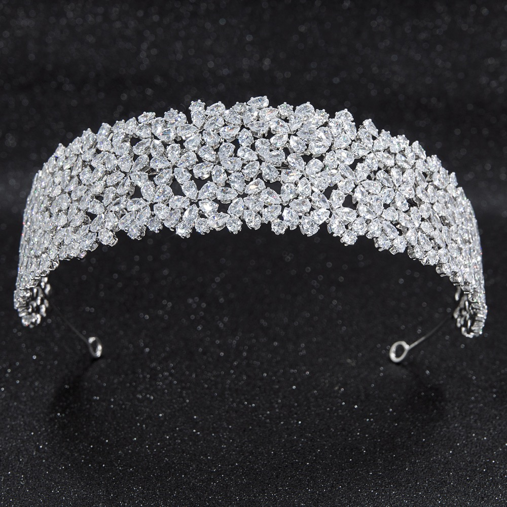 2019 New Crystal Cubic Zirconia Bridal Wedding Soft Headband Hairband Tiara Hair Jewelry Accessories Hairpieces CHA10015-in Hair Jewelry from Jewelry & Accessories    1