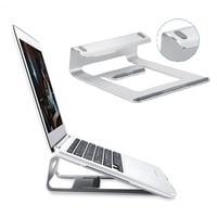 Aluminum Alloy Laptop Stand for MacBook Desktop Holder Pad Notebook PC Computer Heat Reduction Bracket Silicone Slit Anti slip