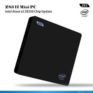 Z83II de windows 10 Mini pc baytrail Z8350 TV Box HD pantalla 2G 32 GB windows10 set top box reproductor multimedia inteligente computadora