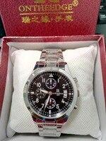Relógios Dos Homens marca de correia de aço relógio de mesa luminosa oco dos homens de negócios à prova d' água 2017|belt brand|belt businessbelt belt -