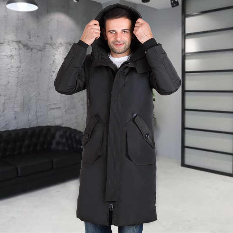 4e9c4116d94 2018 New Style Thick Winter Down Jacket Men Brand-clothing Hooded Long Warm  White Duck