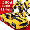 Hot Movie image super transformation robot bumble bee Chevrolet Muscle sports car Camaro building block model toys collection