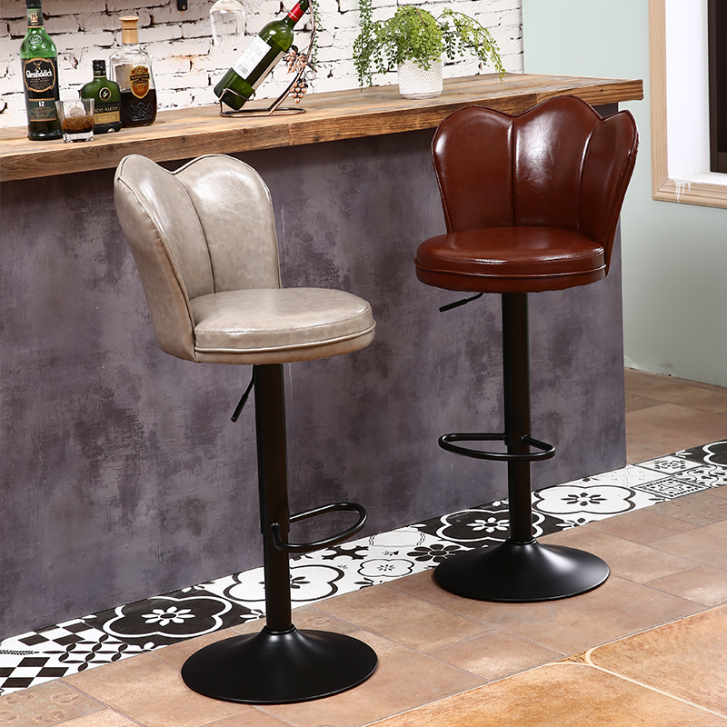 Bar Chair High-quality Leather Modern Simple Lift Chair Net Red Chair Creative Cashier Front Chair Nordic Rotating High Stool