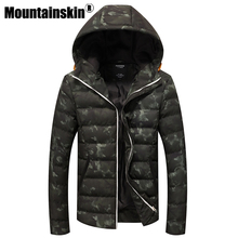 Mountainskin 2017 Winter Jackets Men's Coats Thick Warm Men's Parkas 4XL Casual Cotton Padded Male Jackets Hooded SA362