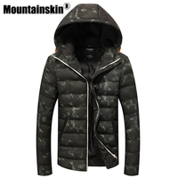 Mountainskin 2018 Winter Jackets Men's Coats Thick Warm Men's Parkas 4XL Casual Cotton Padded Male Jackets Hooded SA362