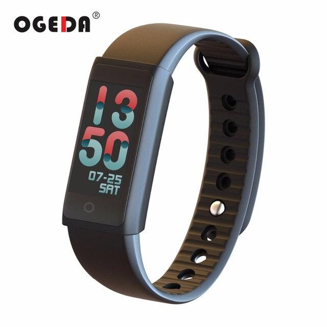 Ogeda الرجال الساعات الذكية شاشة tft ملونة القلب معدل ضغط الدم spo2 البدنية تعقب الذكية معصمه النساء 2018 ساعة