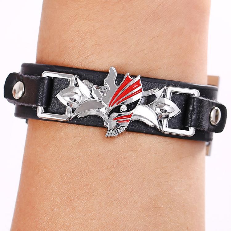 Bracelet BLEACH Black Bracelets Anime Punk Bangles Fashion s