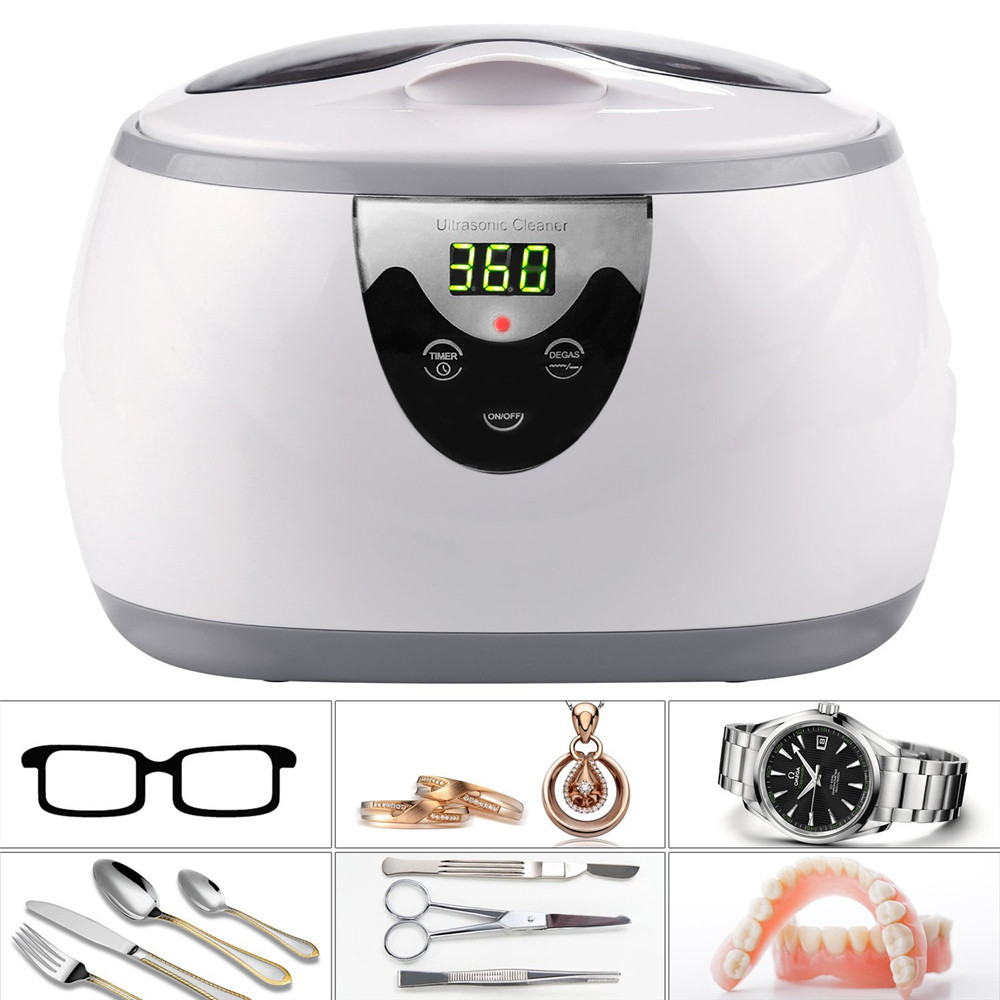 SKYMEN 600ml Ultrasonic Cleaner Jewelry Eyeglasses Denture Home Ultrasound Bath Sonic Cleaning Disinfection Machine SterilizerSKYMEN 600ml Ultrasonic Cleaner Jewelry Eyeglasses Denture Home Ultrasound Bath Sonic Cleaning Disinfection Machine Sterilizer