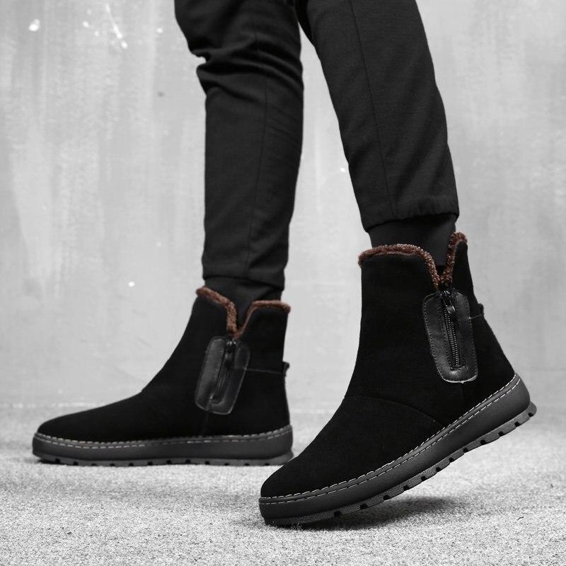 Chaussures Chaud En Achats Hiver Hommes Boots Baisse Snow Black Cuir Rome Bottes Marque Pour De 2018 Véritable Nouveau Plus Merkmak xX8BfWqw6q