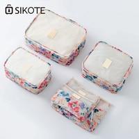 Sikote 6ピース/ロットパッキング主催防水旅行パッキングアクセサリーバッグ靴女性男性バッグ高品質ソフト