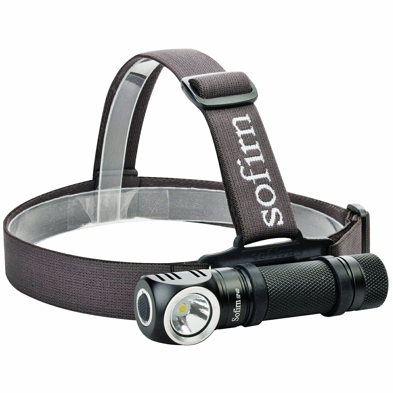 Налобный фонарь Sofirn SP40, светодиодный, 18650 лм, с зарядкой от USB